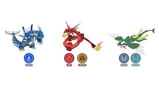 Rayquaza, Groudon, Kyogre Type Swap Fanart | Pokemon Type Swap #47