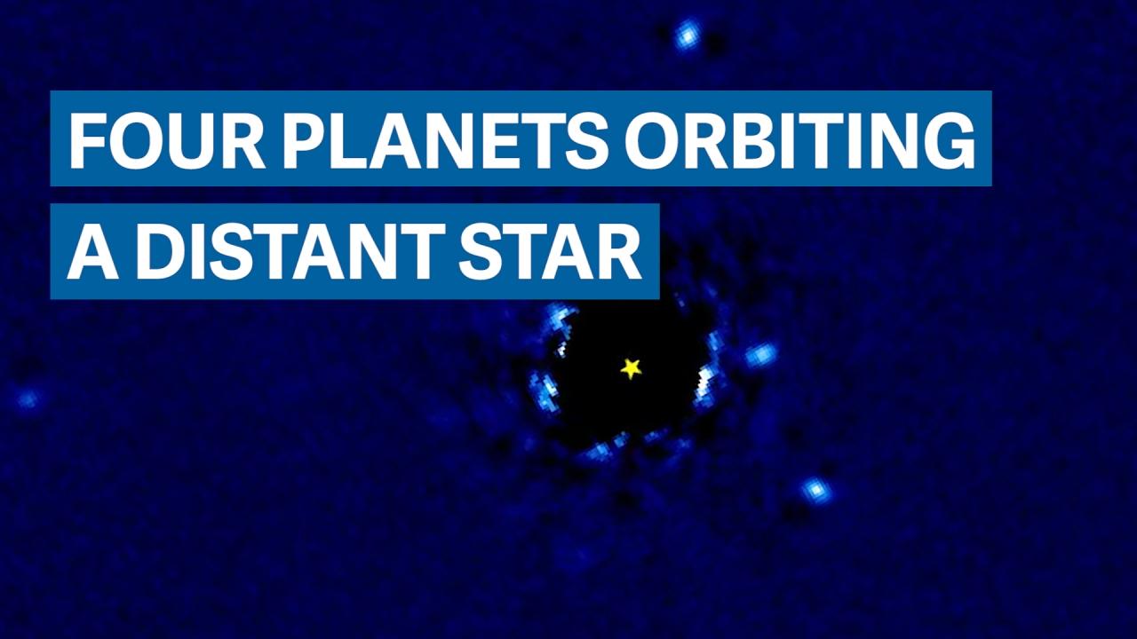 Four planets orbit a star 129 lightyears away