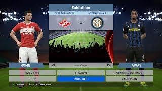 Spartak Moskva vs Internazionale, Otkrytie Arena, PES 2016, PRO EVOLUTION SOCCER 2016, Konami