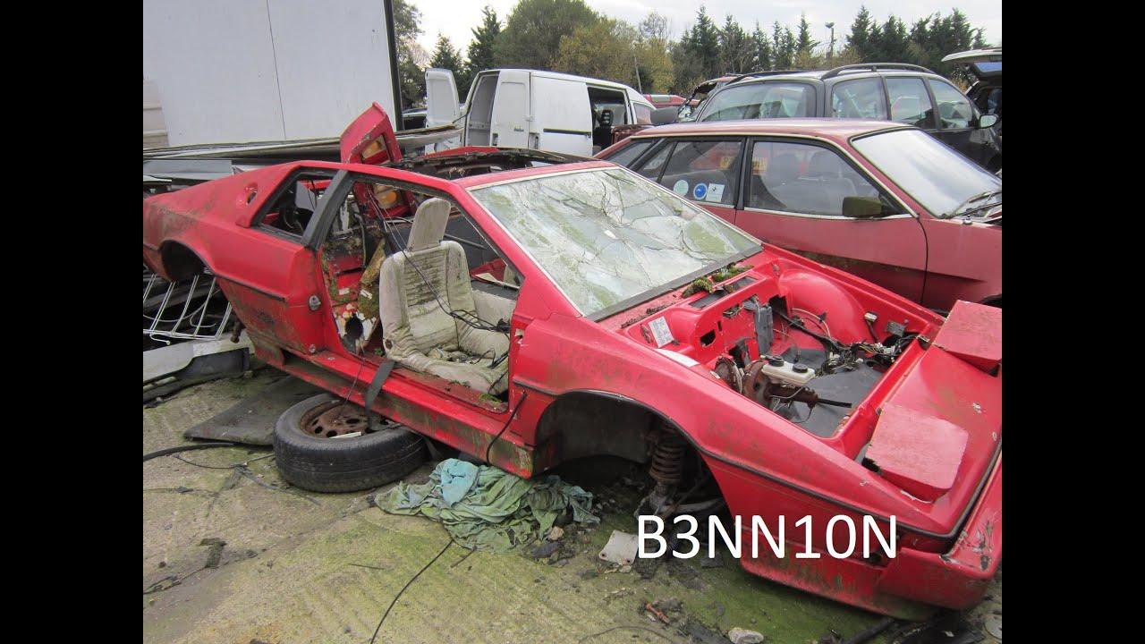 Wrecked Lotus Esprit Turbo Scrap Yard Find Youtube