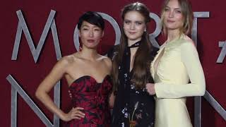Jihae, Hera Hilmar and Leila George:  principal actress the Mortal Engines Premiere