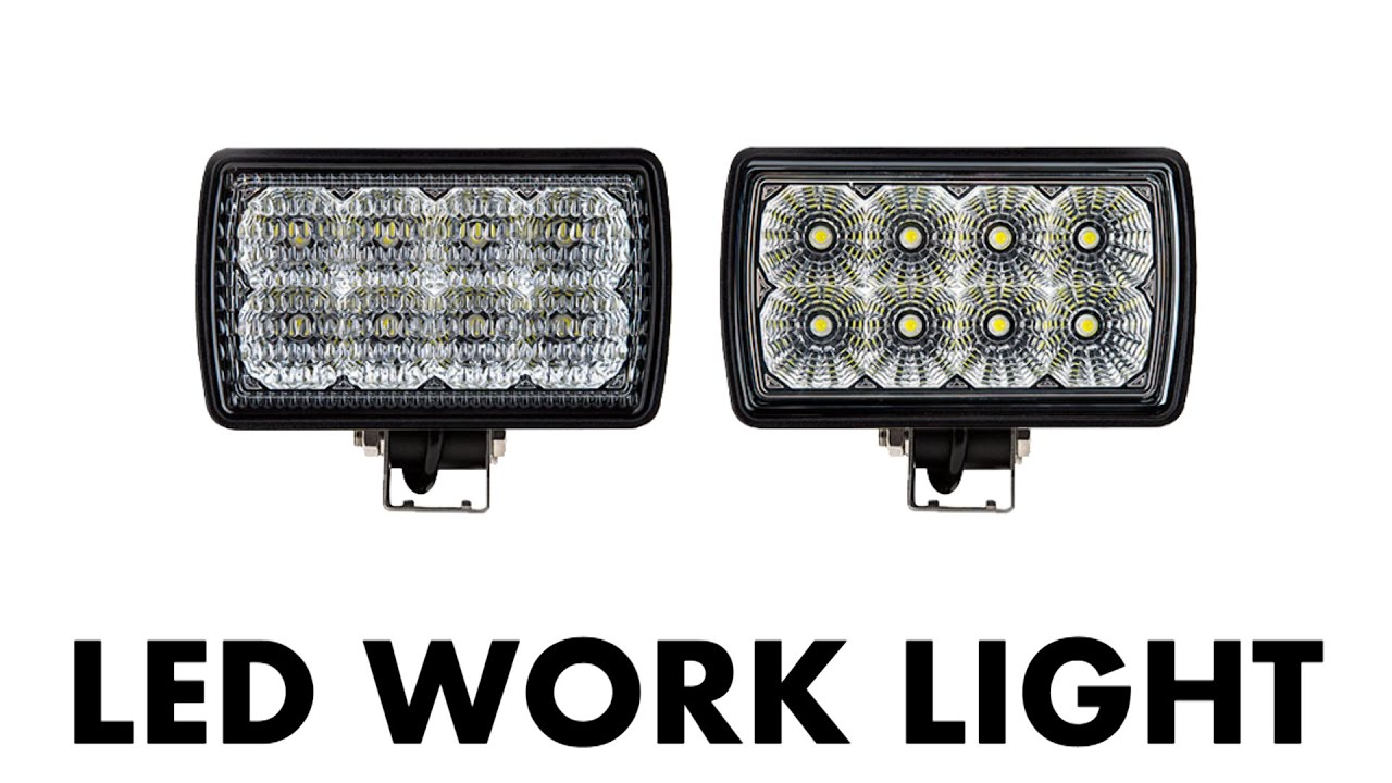LED Work Light; 6 Inch Rectangular