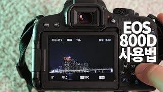 캐논 800D 사용법 이것만 알면 끝! (feat.바로 출사)