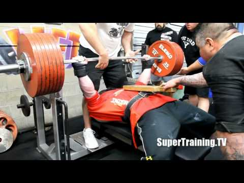SuperTraining.TV: Max Benches 2-16-2012 | Mark Bell Audio Commentary