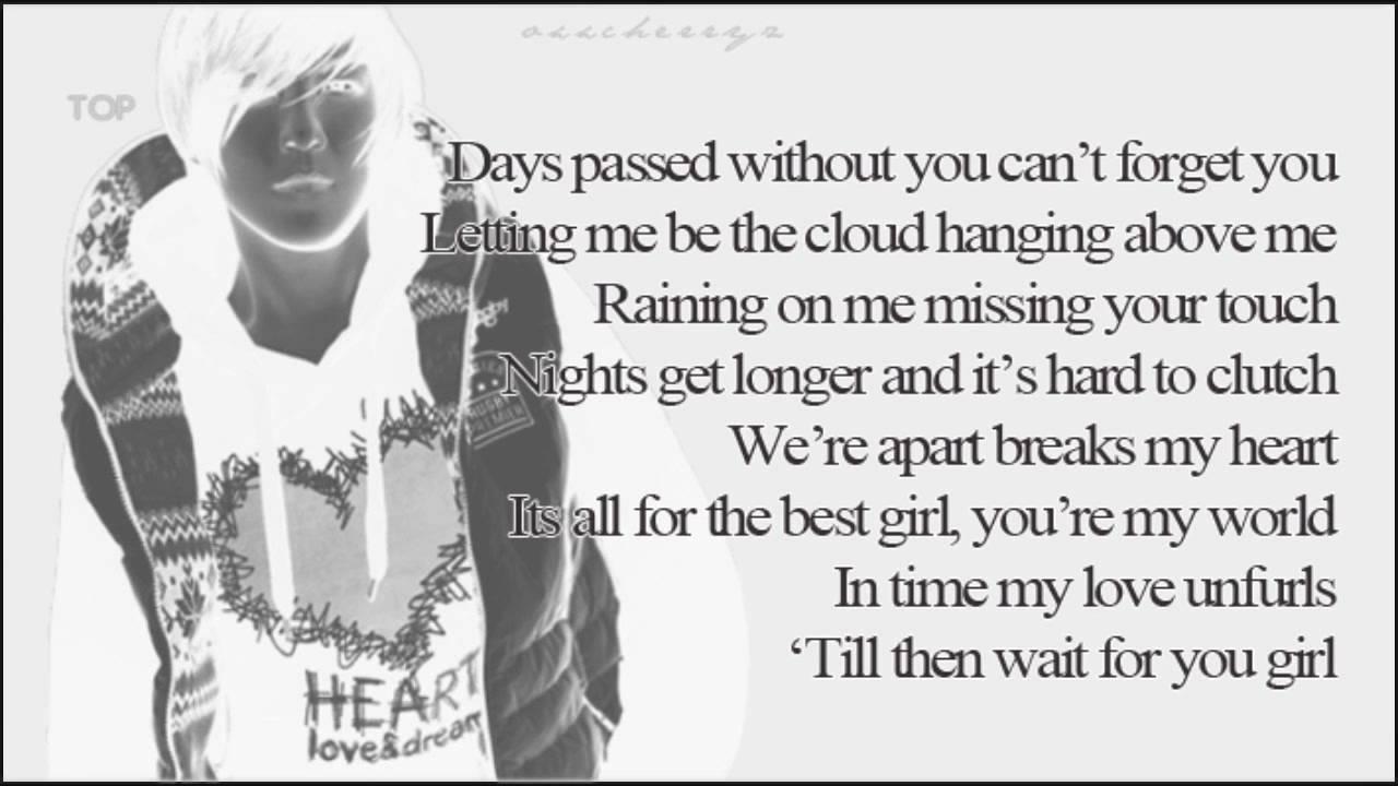 I need a girl lyrics taeyang english translation