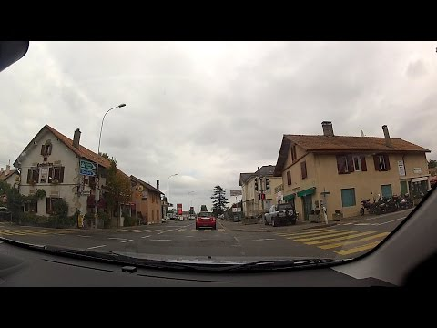 Perly, Canton of Geneva (Canton de Genève), Switzerland (Suisse) – onboard camera