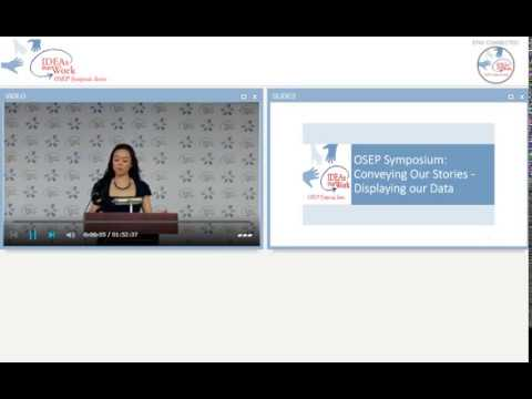 OSEP Symposium: Conveying Our Stories - Displaying Our Data