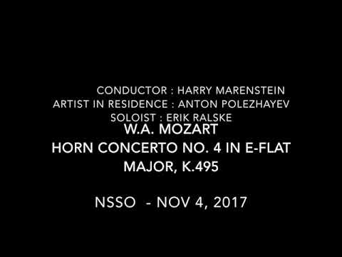 NSSO - Nov 4, 2017 Mozart : Horn Concerto No.4 in E-Flat Major K.495