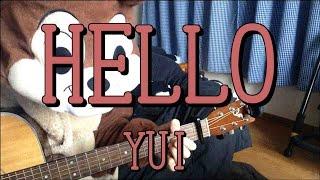 「YUI」さんの「HELLO」を弾き語り用にギター演奏したコード付き動画で...