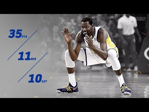 Kevin Durant Triple Double vs Hornets! 35 Pts 11 Rebs 10 Asts! 2017-18 Season