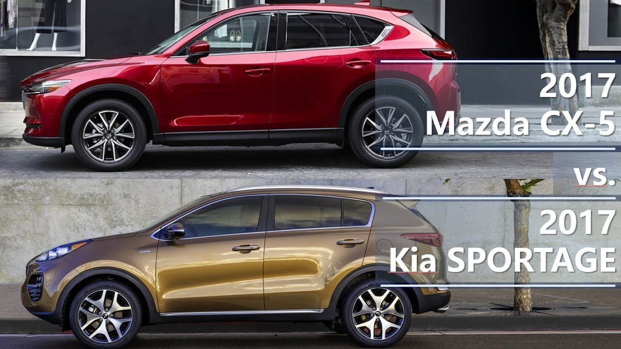 2017 Mazda CX-5 vs. 2017 Kia Sportage (technical comparison) - YouTube
