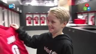 Tienjarige Jordi was voor één dag de baas bij AZ