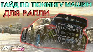 Гайд по тюнингу машин для РАЛЛИ в Forza Horizon 4