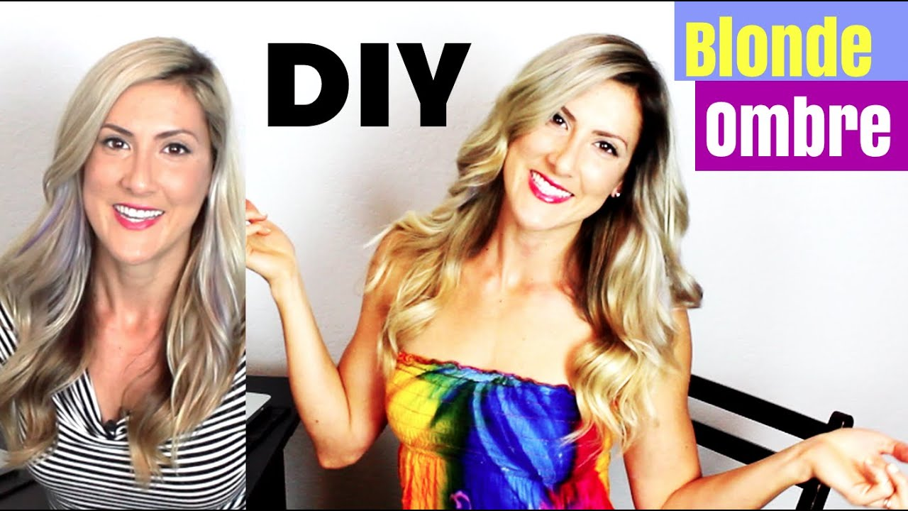 Diy Blonde Ombre Hair Color Youtube