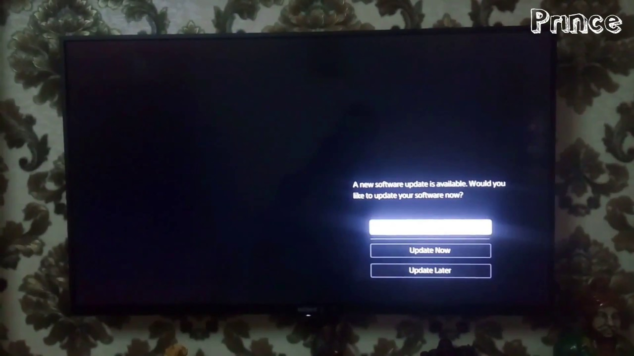 Sony Bravia LED KLV-W772E Series software update ~|prince tech