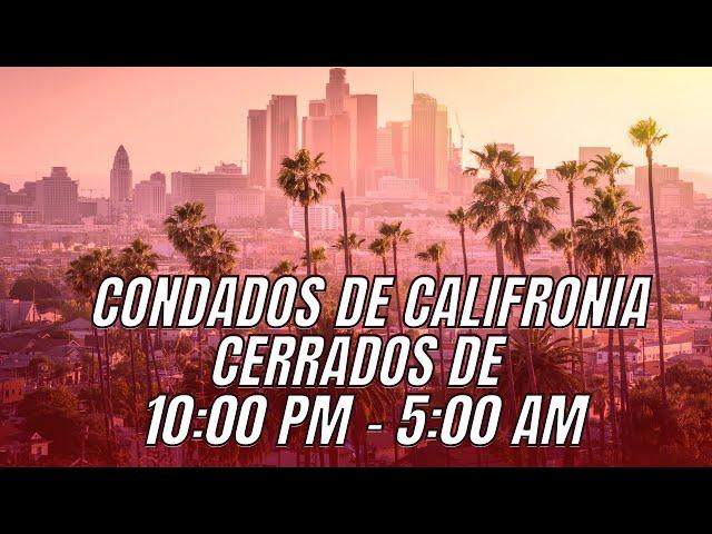 Toque de queda en California - El Aviso Magazine