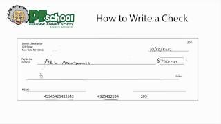 How to Write a Chęck - Checking Account Tips