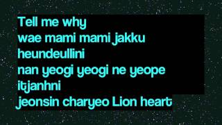 Video SNSD - Lion Heart (Romanization Lyrics) download MP3, 3GP, MP4, WEBM, AVI, FLV Agustus 2018