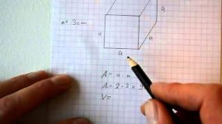 Fläche und Volumen eines Würfel / Quaders berechnen