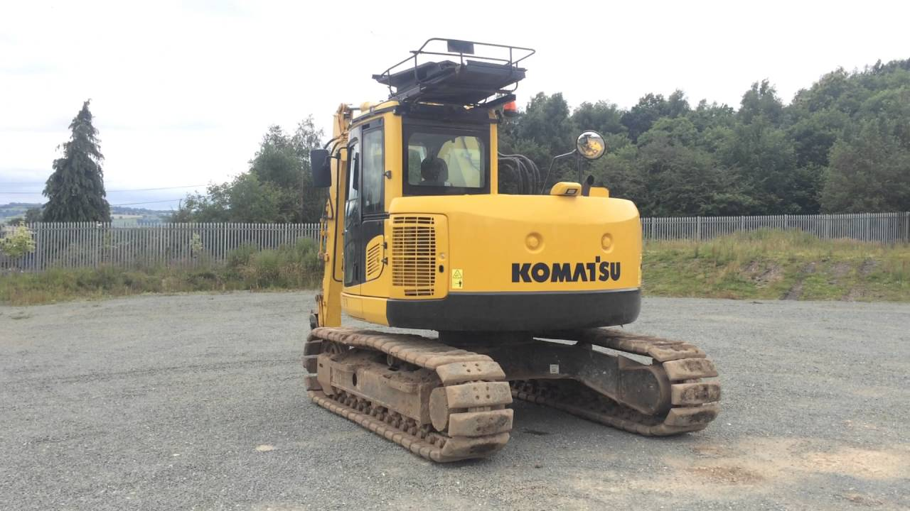 maxresdefault komatsu pc138 thirteen ton zero tail swing excavator youtube  at bayanpartner.co