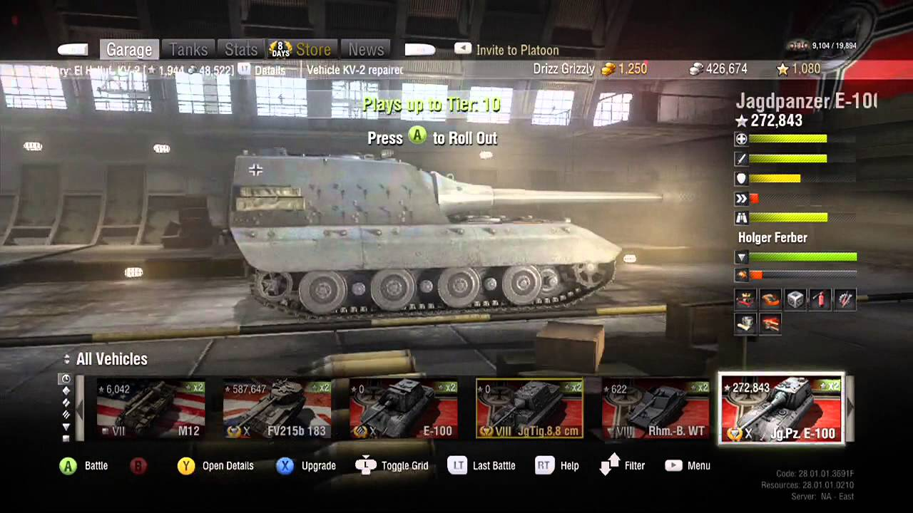 world of tanks how to get free garage slots