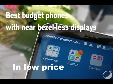 Best budget phones with near bezel-less displays|price|features
