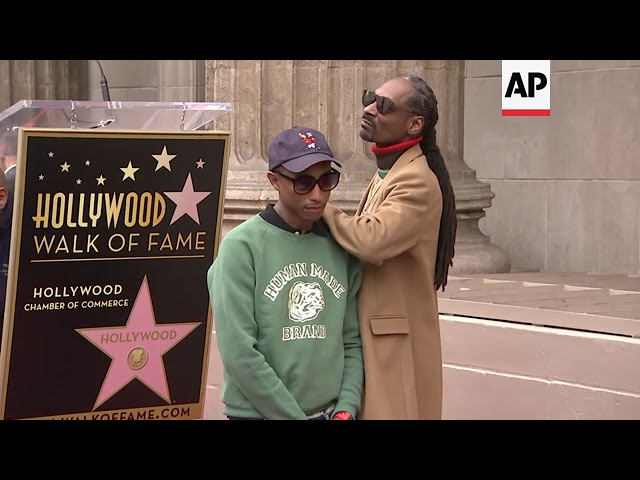 At Hollywood Walk of Fame ceremony, rapper-actor-TV presenter Snoop Dogg says, 'I want to thank me'