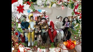 Guka and His Friends Singing Kids Songs at the School with christmas costume