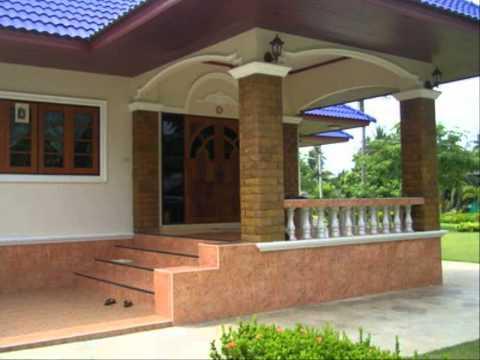 ภาพบ้านชั้นเดียวสวยๆ แบบบ้านน่ารักสองชั้น