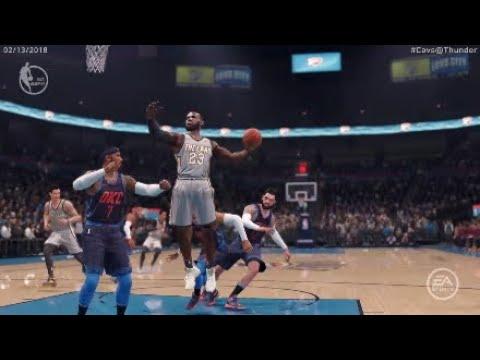 Cleveland Cavaliers @ Oklahoma City Thunder | NBA Live 18 - 2017-2018 Season: 02/13/2018 Full Game