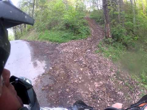Richmond KTM Curtis's secret trail system