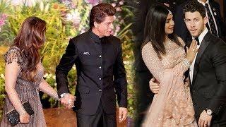 Shah Rukh Khan - Gauri Khan Come Face To Face Priyanka Chopra - Nick Jonas At Isha Ambani Shaadi