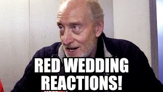 Game of Thrones Red Wedding Reactions - Tywin, Arya, Hodor, ...