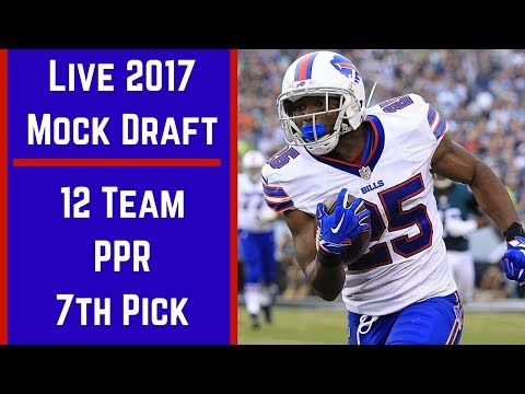 Live 2017 Fantasy Football Mock Draft - 12 Team PPR