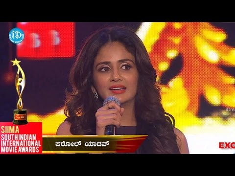 SIIMA 2014 || Best Supporting Role ||  Female Kannada || Parul Yadav