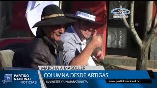 Columna de 50 jinetes partió desde el departamento de Artigas rumbo a Masoller