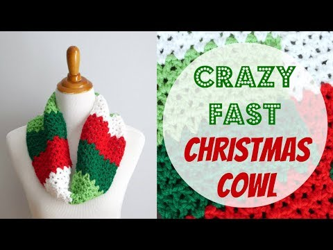 How To Crochet the Crazy Fast Christmas Cowl