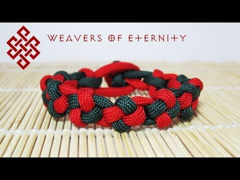 How To Make A Paracord Cross Knot Bracelet Tutorial Youtube