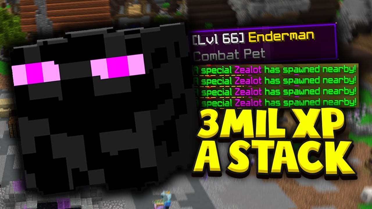 Fastest Way To Lvl Up Pets Hypixel Skyblock Pet Update Youtube