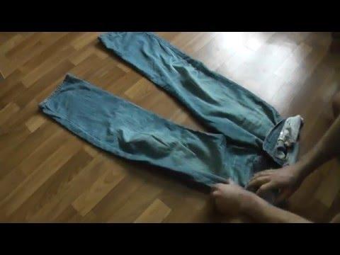 Лайфхак как компактно сложить джинсы