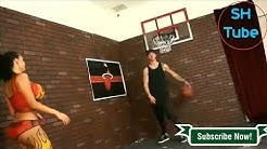 Amy Anderssen Playing Basketball With Her Friends