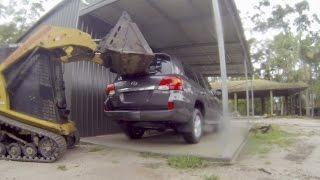 Bobcat smashes a brand new Toyota 200 Series Landcruiser