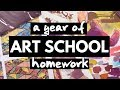 A Year of Art School Homework - Tons of Sketches
