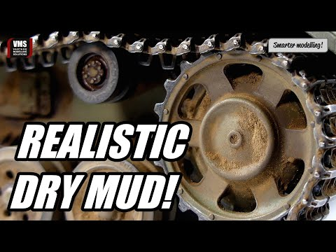How to make dry mud on a tank model - VMS Alkyd binders PART 1 LOWER HULL