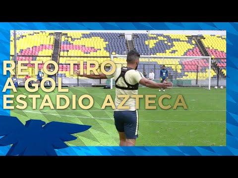 Reto de tiros a gol en el Estadio Azteca