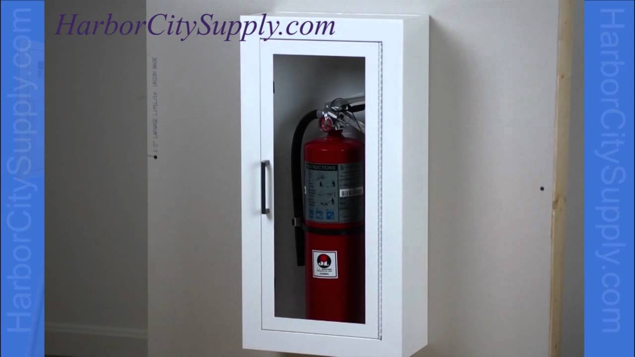 surface mounted fire extinguisher cabinet - jl industries academy