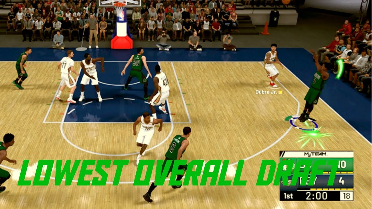 nba 2k19 lowest overall draft