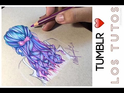 Cabello Tumblr Super Facil Draw Tumblr Colores Giotto Youtube