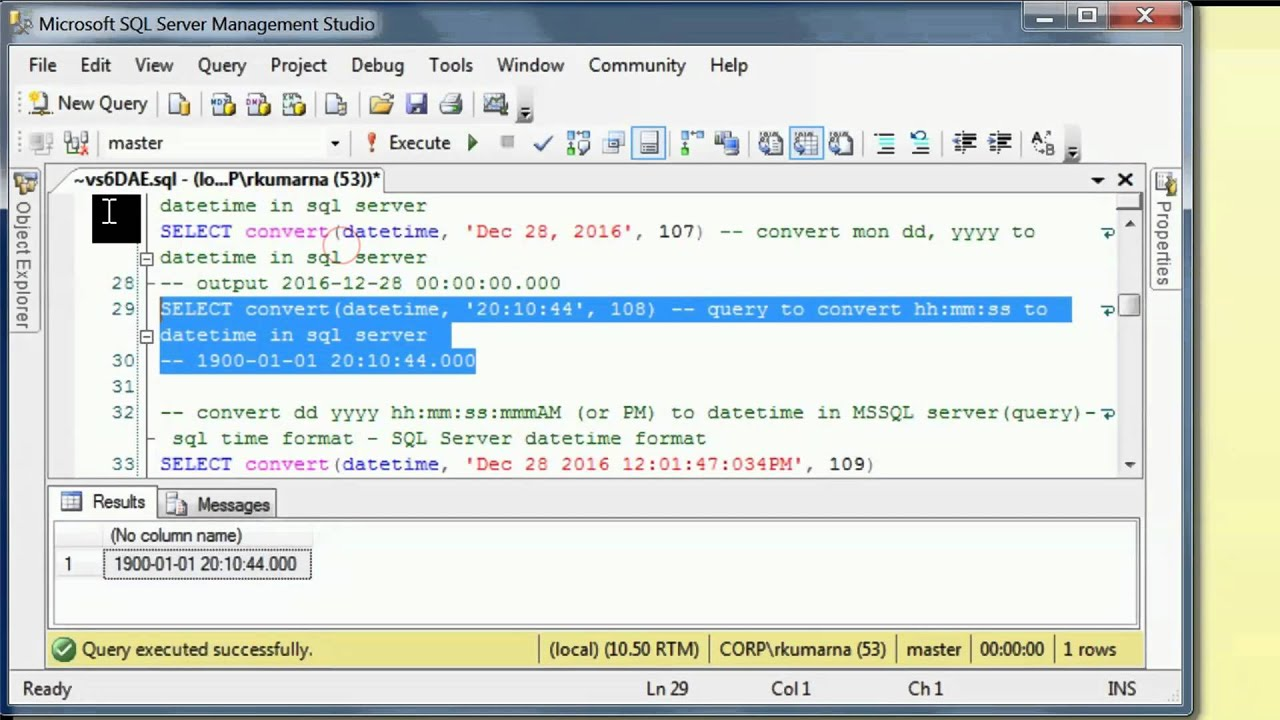 How to convert string to datetime in sqlserver with Queries - YouTube