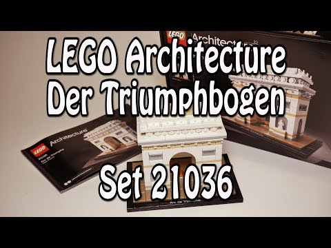 Review LEGO Triumphbogen (Architecture Set 21036 Arc de Triomphe) - deutsch